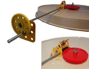 Manual Drive for Peco 00 or N Turntable
