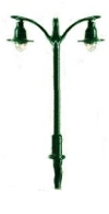 Double Electric Street/Platform Lamp - green