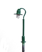 Swan Neck Street Lamp - green