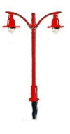 Double Electric Street/Platform Lamp - red